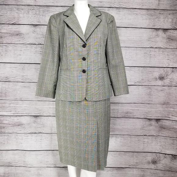 Worthington Jackets & Blazers - Worthington Blazer pleated Skirt Suit Windowpane